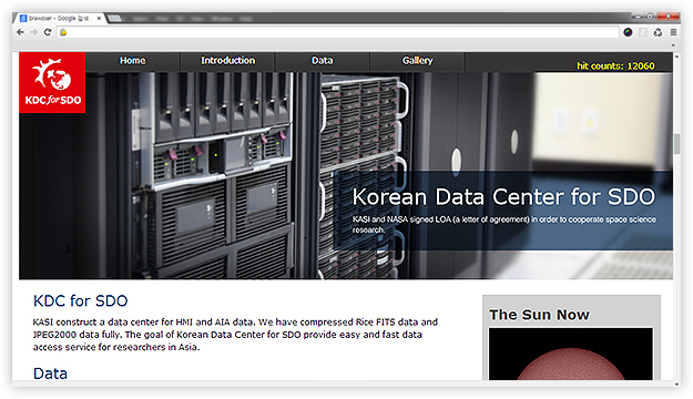KDC for SDO Korean Data Center for SDO, KASI construct a data center for HMI and AIA data. We have compressed Rice FITS data and JPEG2000 data fully. The goal of Korean Data Center for SDO provide easy and fast data access service for researchers in Asia.